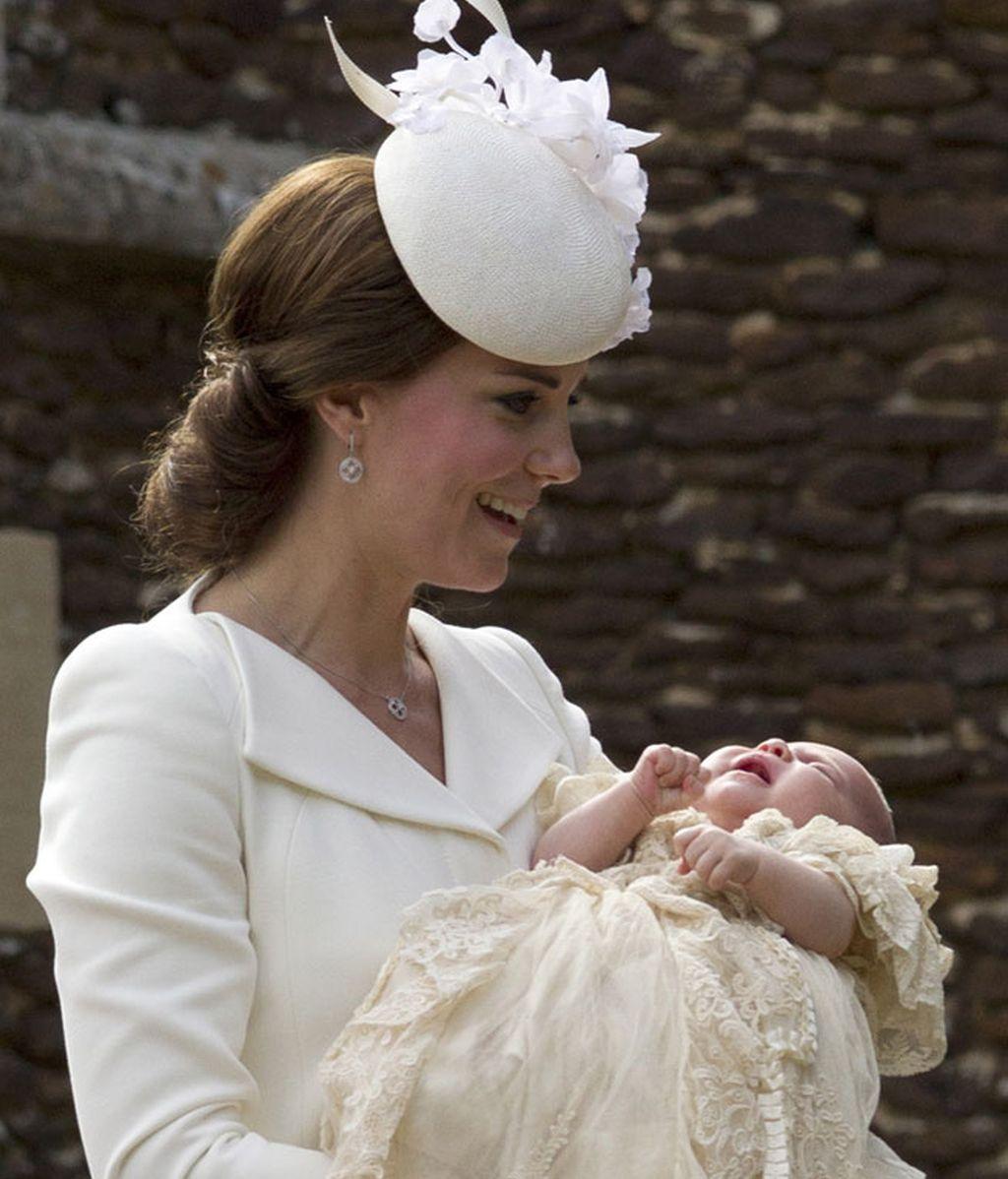 La Duquesa se mostró muy sonriente en su aparición