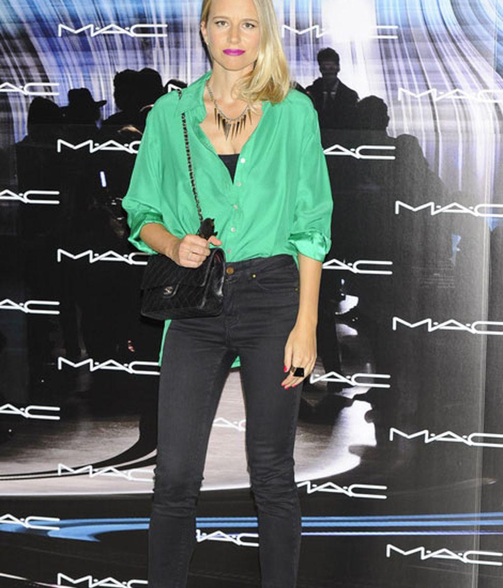 María León también se lanzó al color verde en el 'photocall'