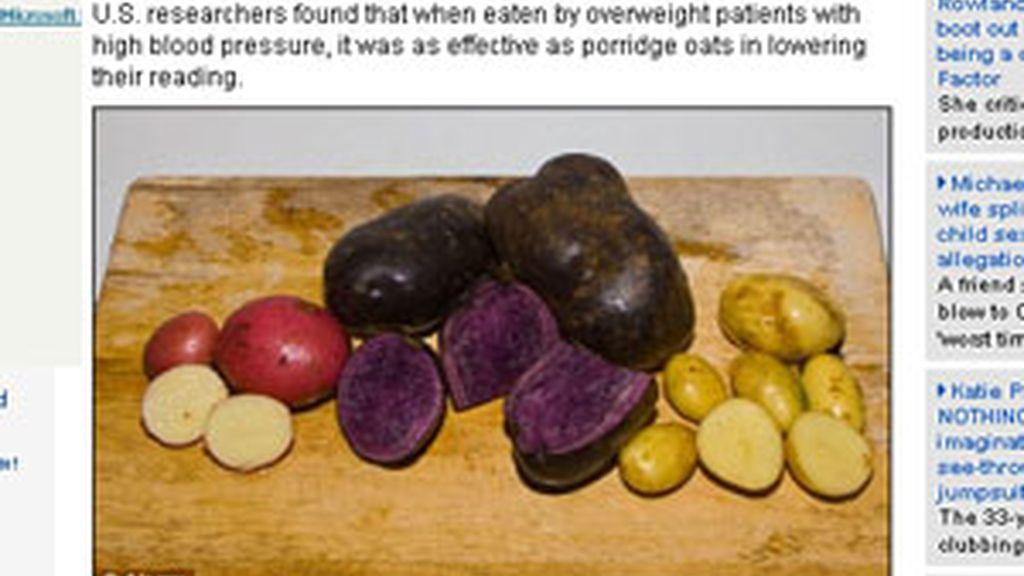 Las patatas moradas son un descubrimiento buenísimo para la salud