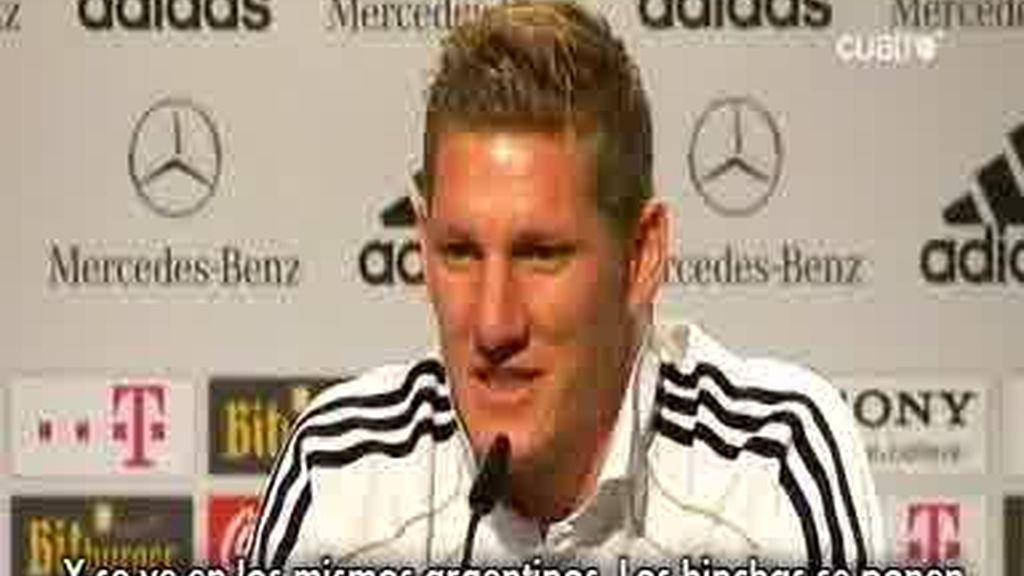Alemania calienta el partido frente a Argentina