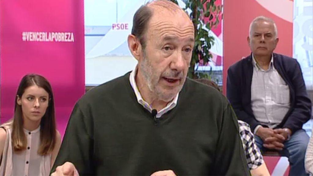 Rubalcaba pide prohibir los billetes de 500 euros para combatir la pobreza