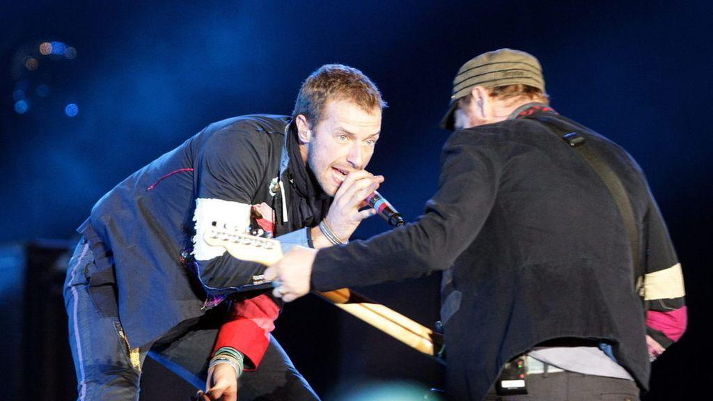 Una actuación de Coldplay.