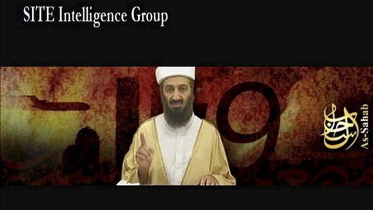 Imagen capturada de un video sin datar el 11 de septiembre de 2007 por el instituto SITE del líder de Al Qaeda Osama bin Laden,  hecho público en el día del sexto aniversario de los atentados del 11-S en EEUU. EFE/Archivo
