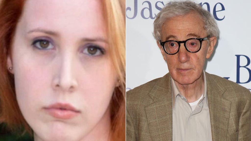 Dylan Farrow y Woody Allen