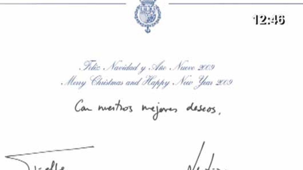 La familia Real nos felicita la Navidad