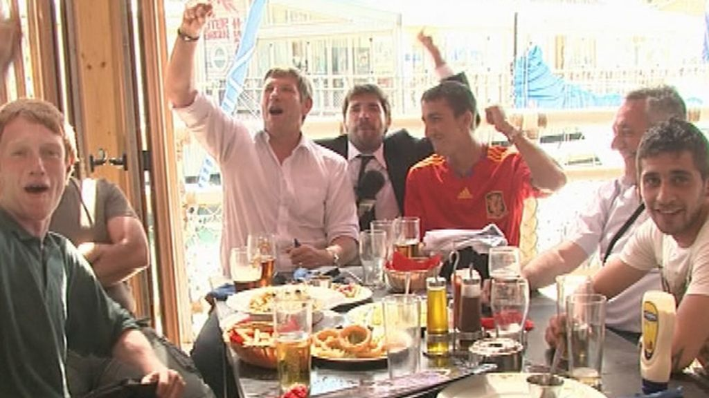 Nacho visita Gibraltar en pleno Mundial