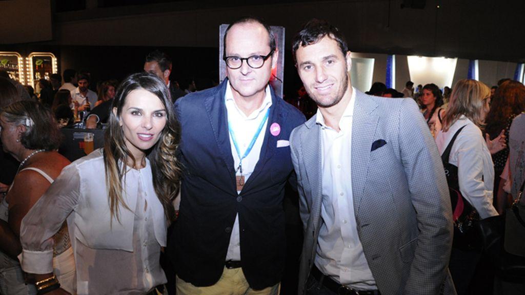 Lorena Casado, Nacho Montes e Iván Helguera