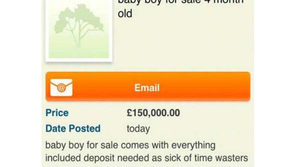 Pierde la custodia de sus hijos tras subastar en internet a su bebé por 180.000 euros