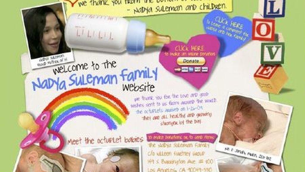 la página web de los octillizos