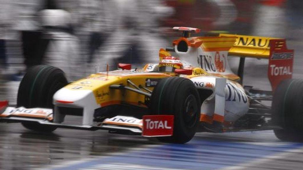 Fernando Alonso, durante el GP de China. FOTO: EFE.