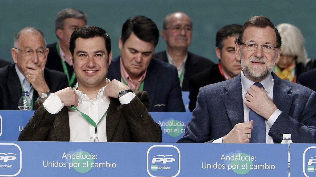 """Rajoy a Moreno: """"El reto es San Telmo"""" y """"todos te vamos a ayudar, yo el primero"""""""