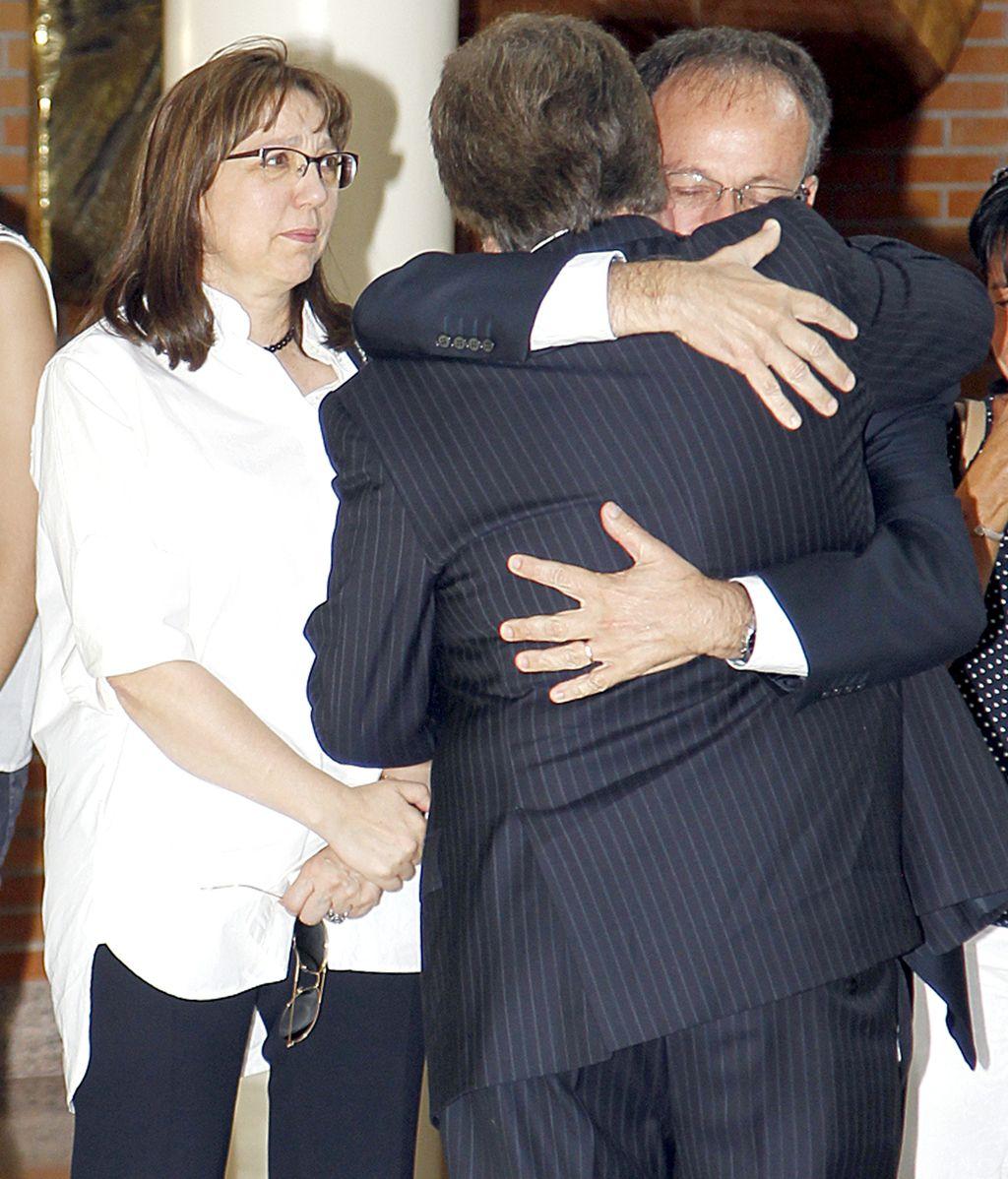 El marido de Concha García Campoy recibe el pésame