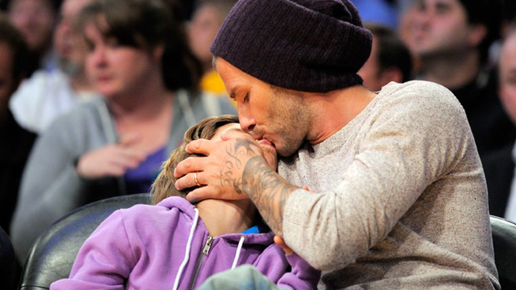 David Beckham con su hijo Romeo