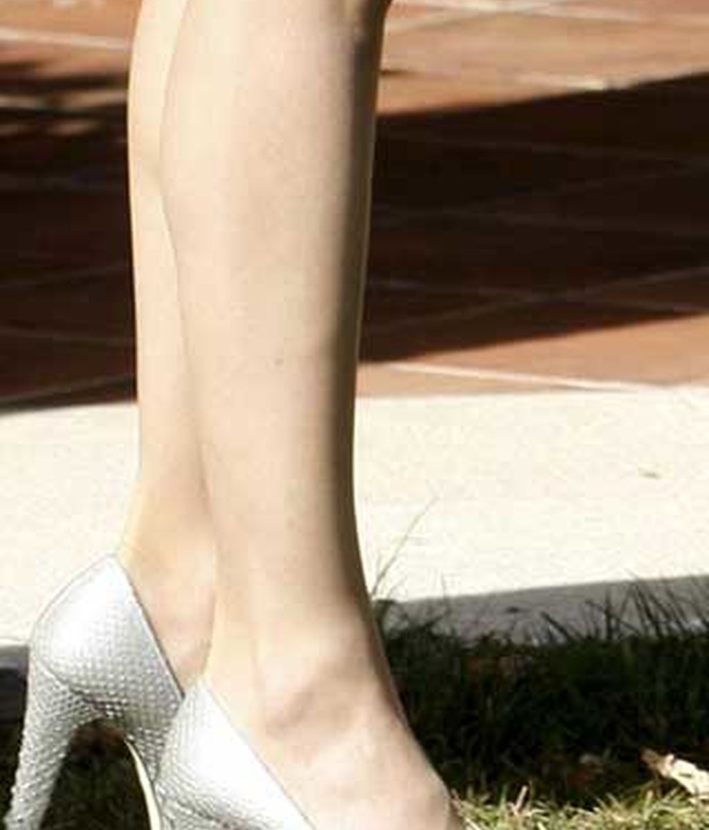 ' Peep toes' de piel de reptil