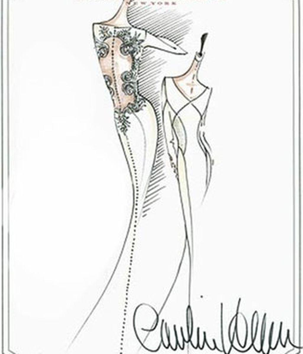 Vestido de novia de Kristen Stewart en 'Amanecer'