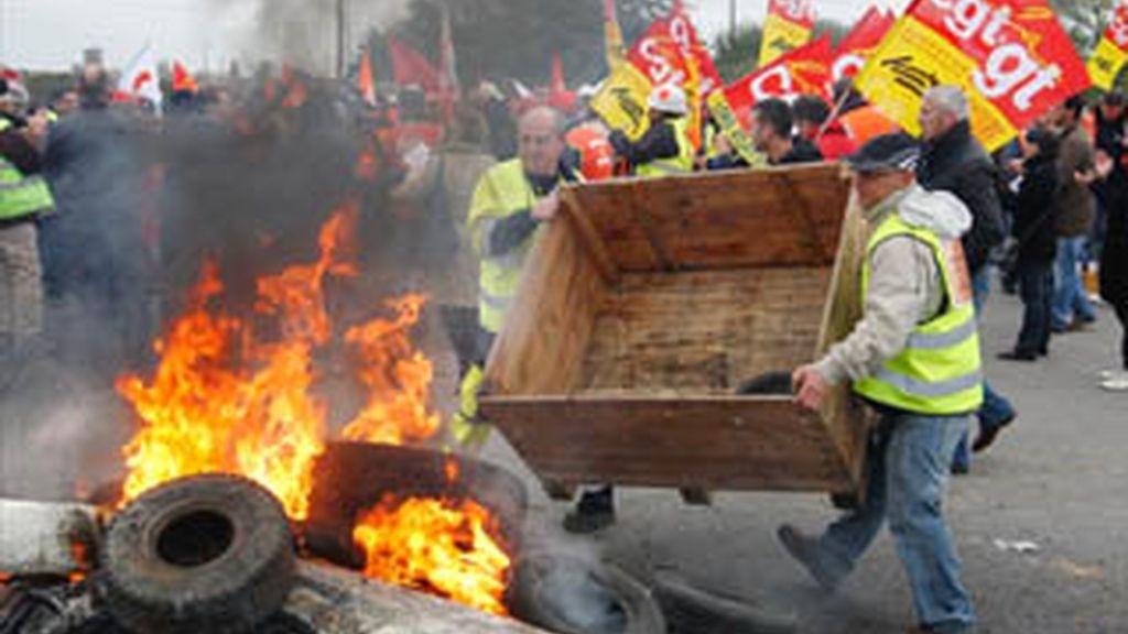 Huelgas de las refinerías en Francia