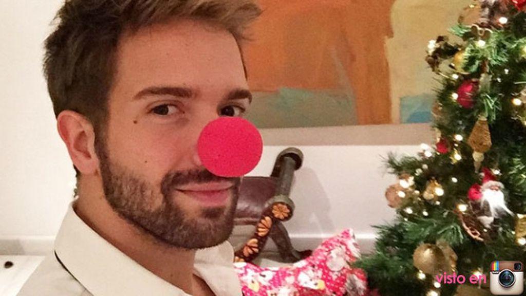 Pablo Alborán convertido en reno de Papá Noel