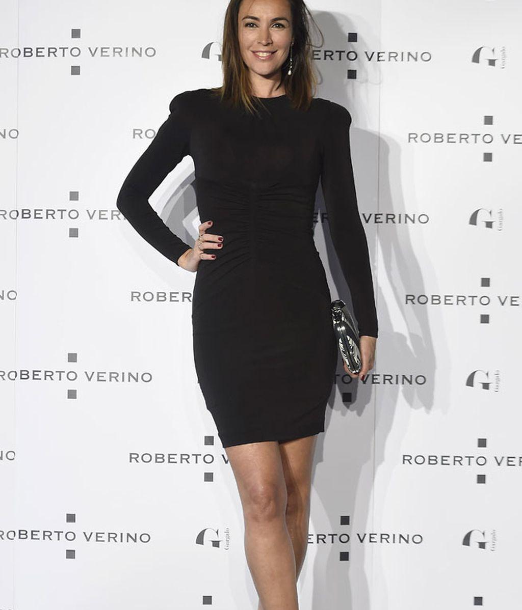 La modelo María Jose Besora, también de 'total black'