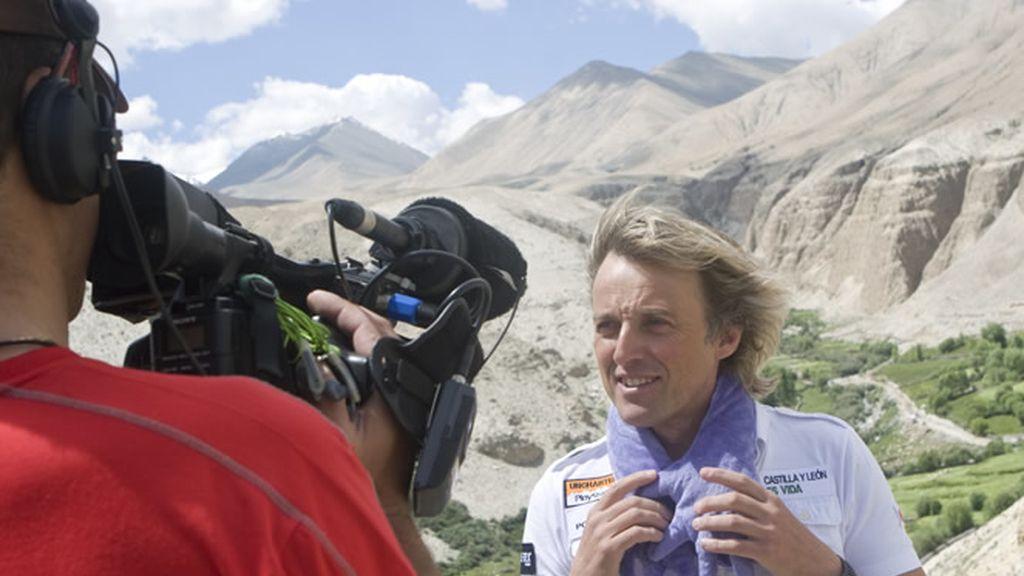 Jesús Calleja con cámara. Proyecto Hugo.