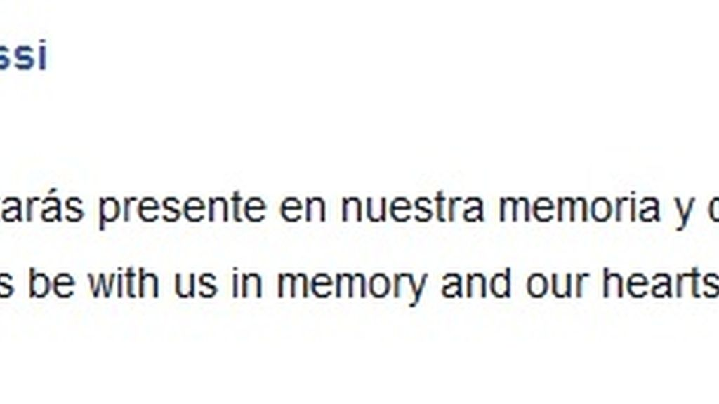Messi recordó a Tito Vilanova en Facebook