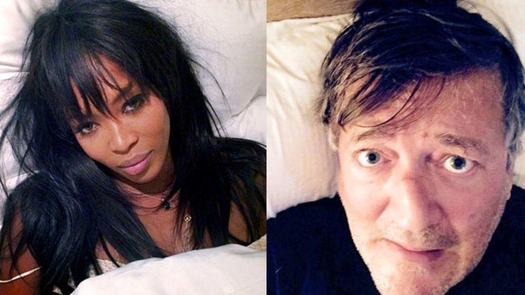 #WakeUpCall, los famosos se hacen un selfie recién despiertos por una buena causa
