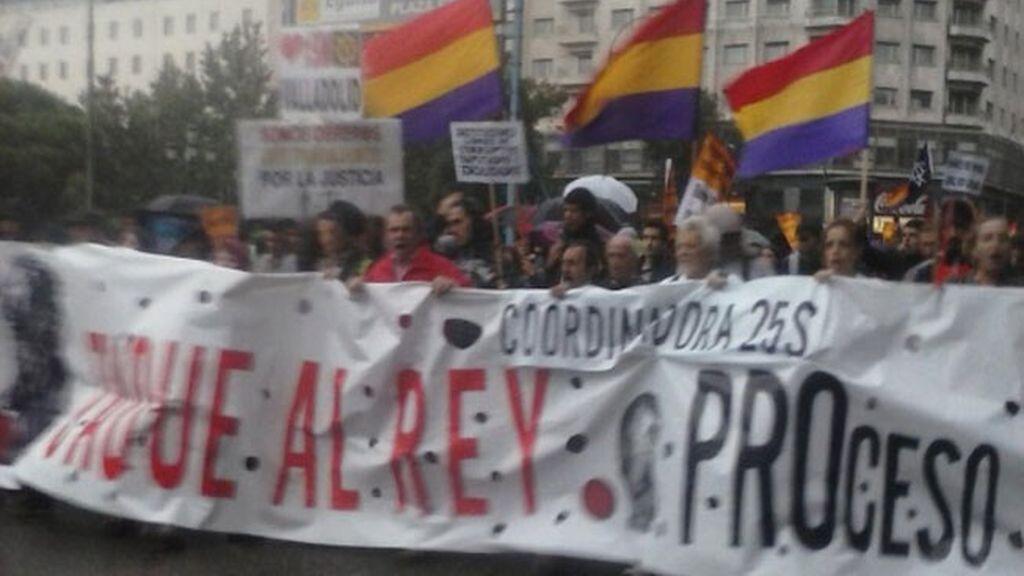 Manifestación 'Jaque al Rey'