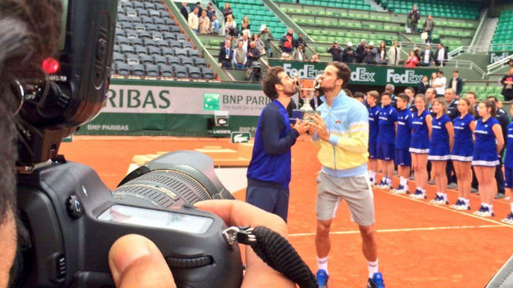 Feliciano López  y Marc Lopez Tarres Roland Garros