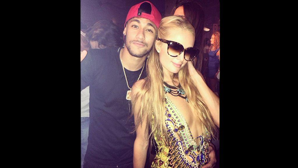Paris Hilton y Neymar, juntos en una noche de fiesta por Ibiza