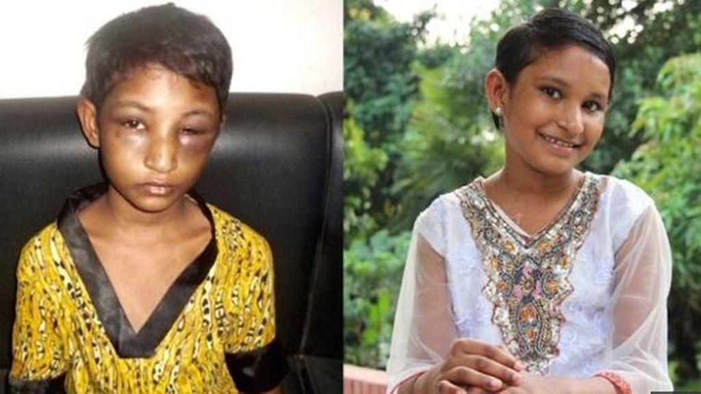 'Happy', la niña de 11 años maltratada por una estrella del cricket en Bangladesh