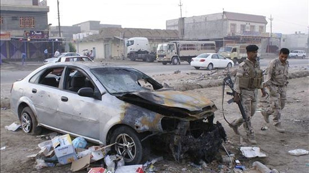 Al menos cinco personas murieron hoy y otras once resultaron heridas en varios ataques ocurridos en las últimas horas en las cercanías de Bagdad y en la provincia de Diyala, según fuentes policiales y del Ministerio de Interior. EFE/Archivo
