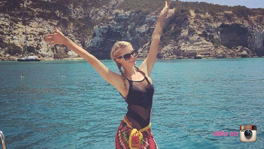 Paris Hilton, encantada de haber pisado Ibiza, una vez más