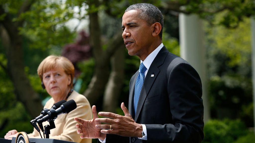 Obama y Merkel amenazan a Rusia con más sanciones por su postura sobre Ucrania