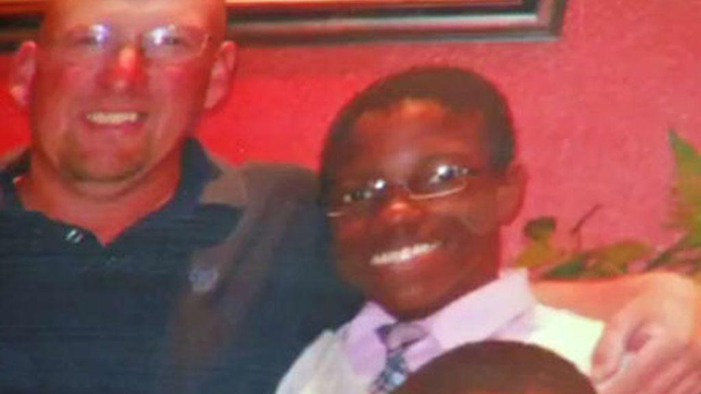 papa noel,afroamericano,profesor secundaria,Christopher Rougier,Cleveland