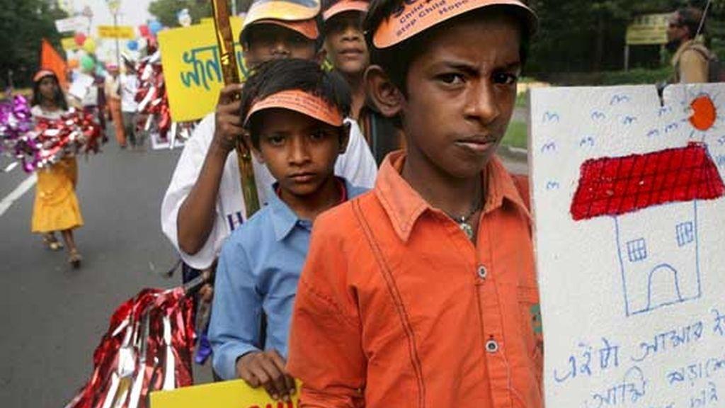 En la calle por los derechos de los niños