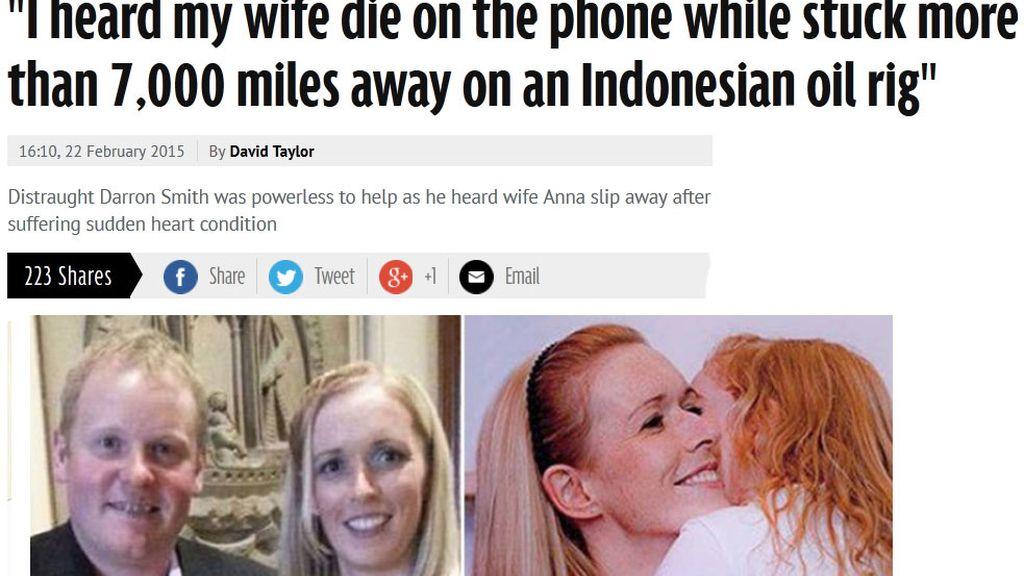 Su mujer fallece inesperadamente cuando hablaban por teléfono