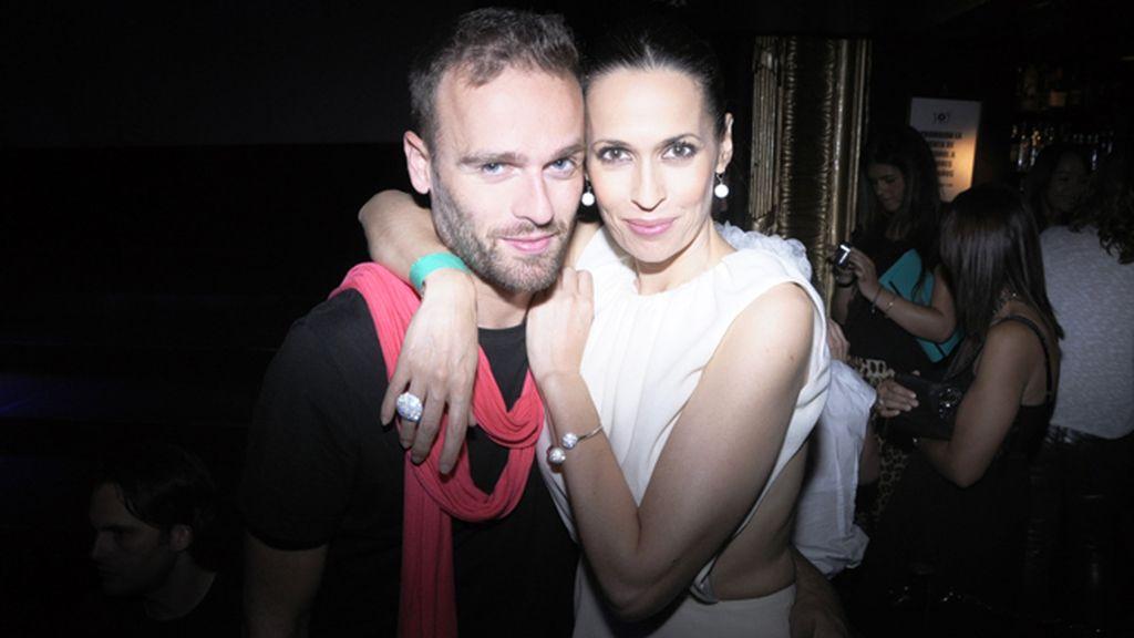Ruben Bejarano y la actriz Lola Marceli, inseparables durante toda la noche