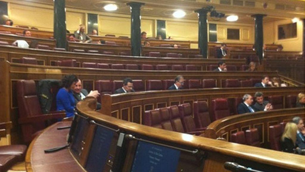 Imagen del Congreso publicada por el diputado Toni Cantó en su Twitter