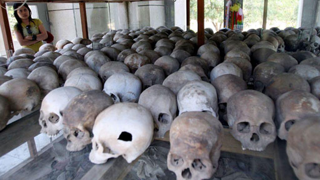 Cráneos de las víctimas del Jemer Rojo