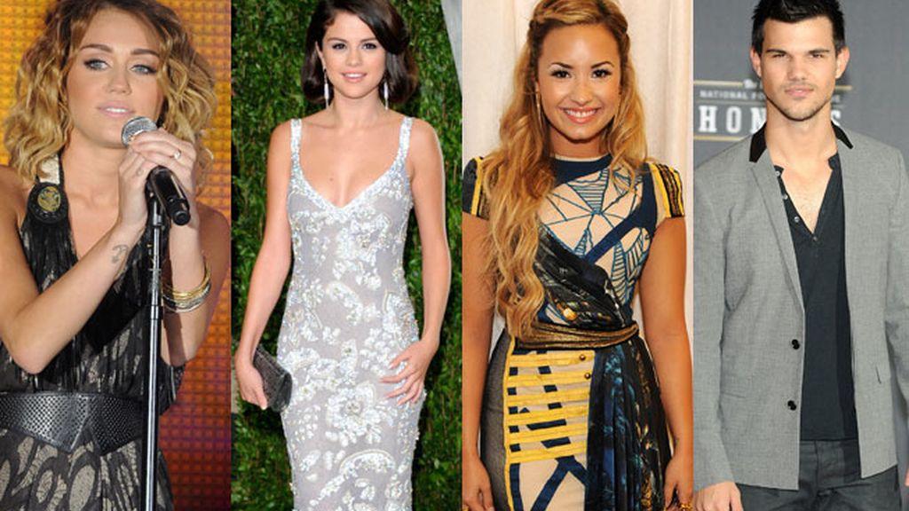 Miley Cyrus, Selena Gómez y Demi Lovato