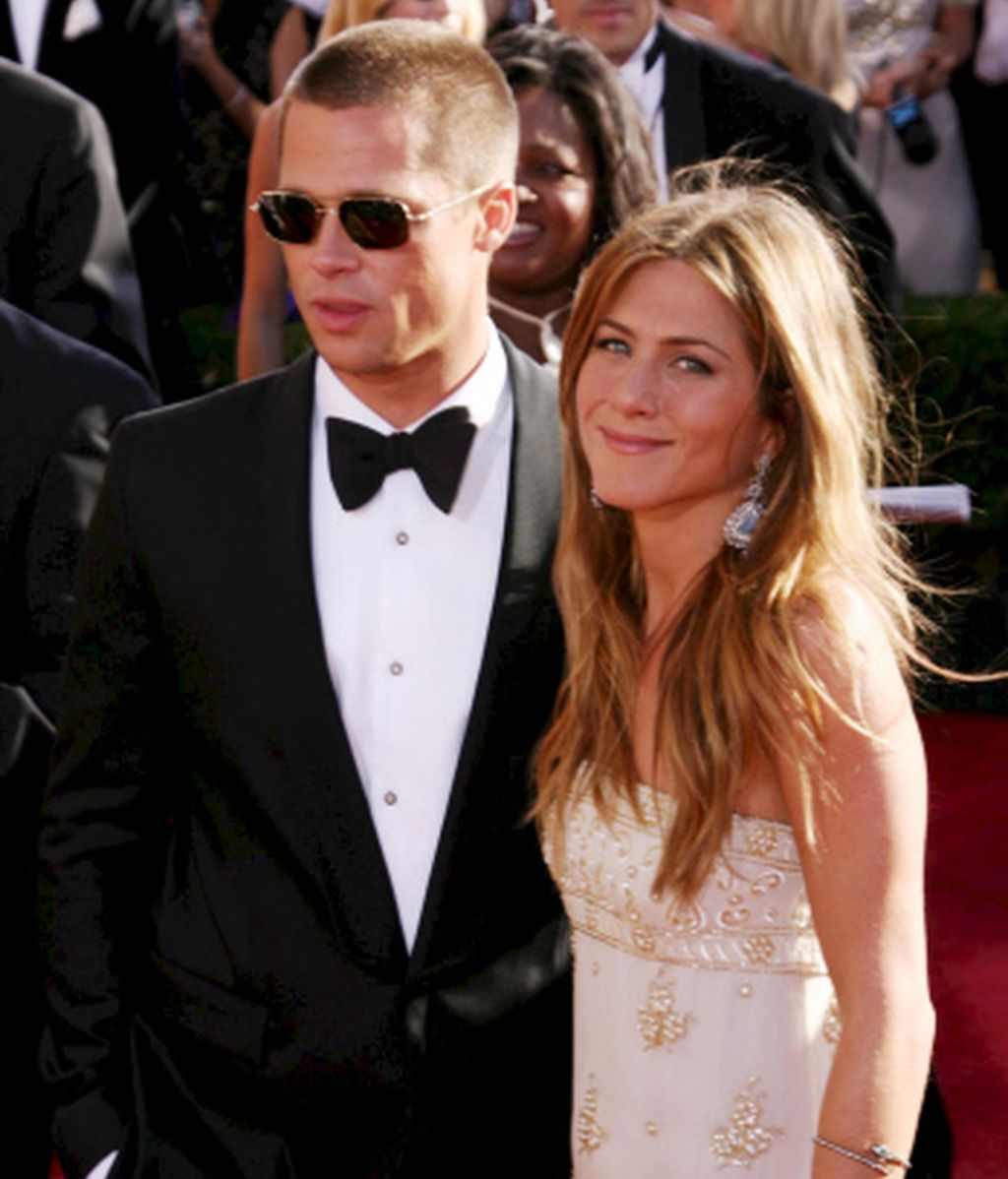 Brad Pitt y Jennifer Aniston hace once años