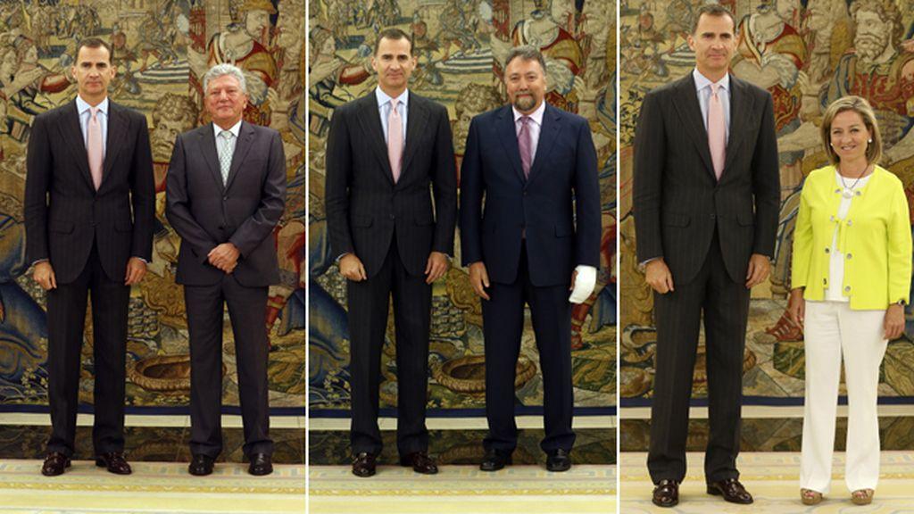 El Rey recibe a Nueva Canarias, Foro Asturias y Coalición Canaria