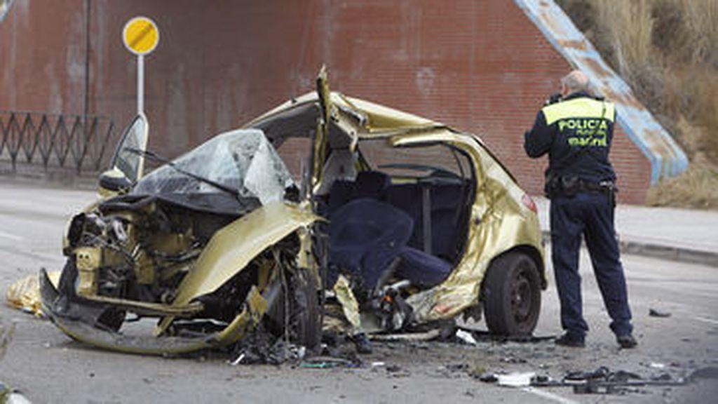 Imagen del coche siniestrado