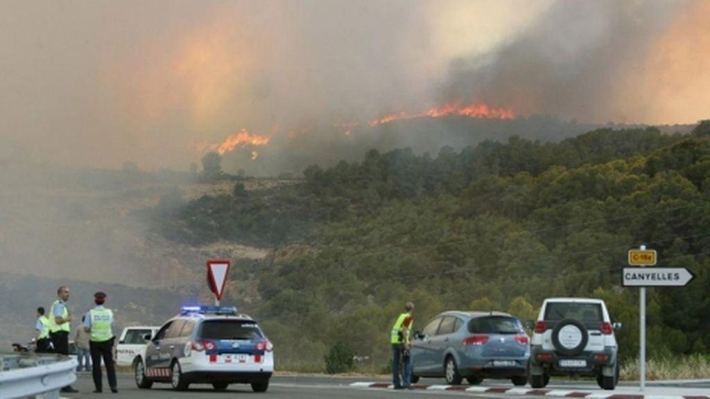 Incendio forestal en Castellet