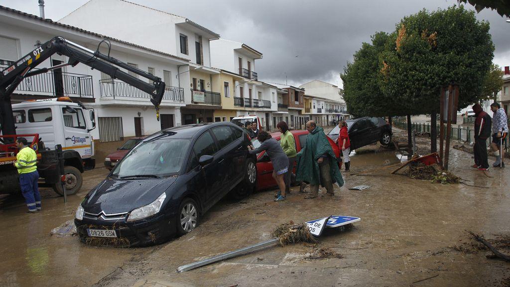 Lluvias torrenciales en Villanueva del Rosario, Málaga. Foto: Gtres