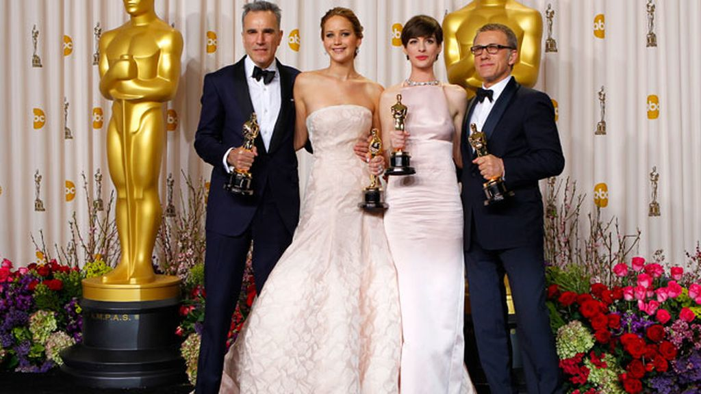 Daniel Day-Lewis, Jennifer Lawrence, Anne Hathaway y Christoph Walz