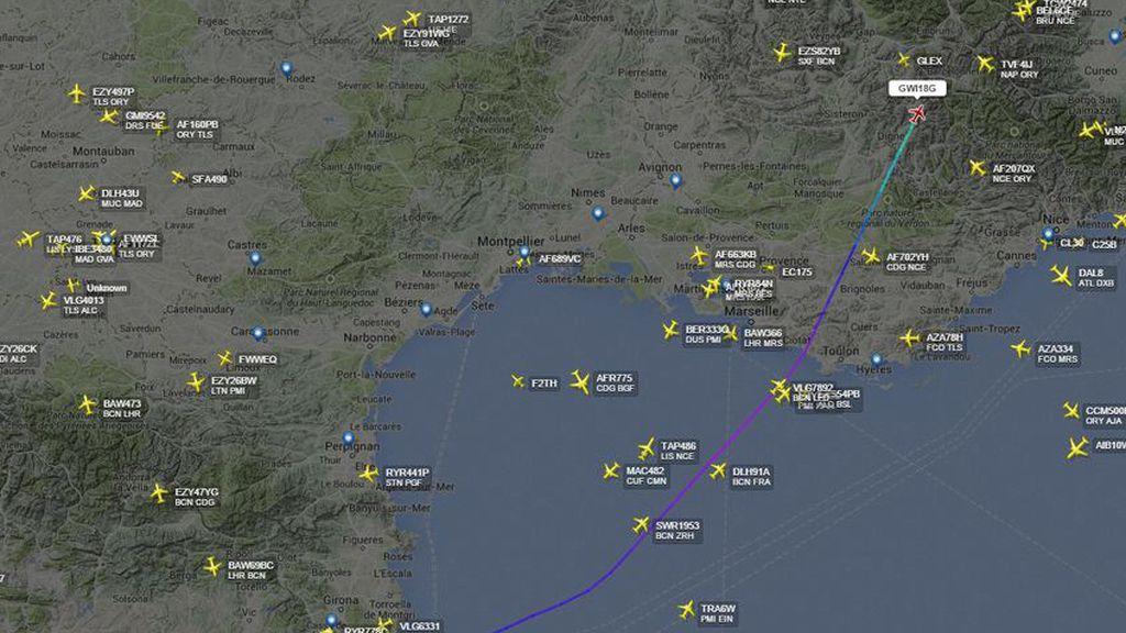Lugar en el que el avión desaparece del radar