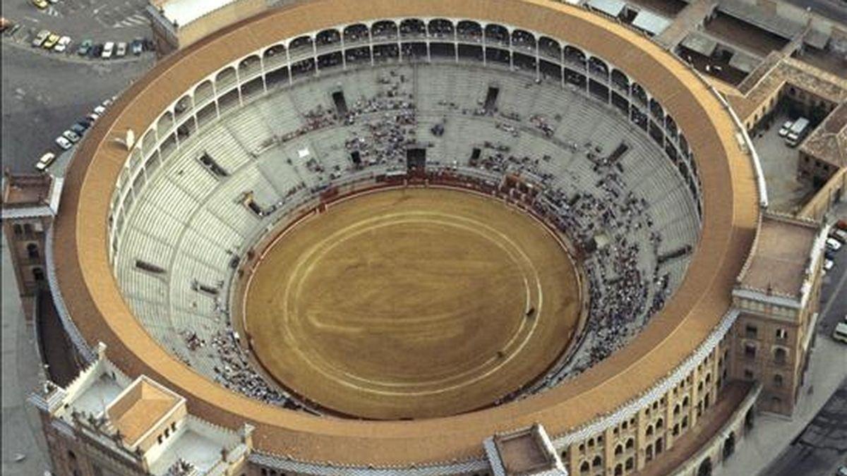 Vista aérea de la plaza de toros de las Ventas. EFE/Archivo