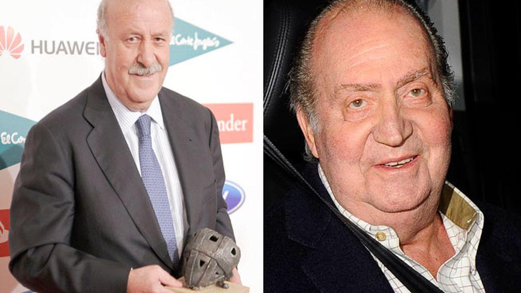 Vicente del Bosque y el rey Juan Carlos