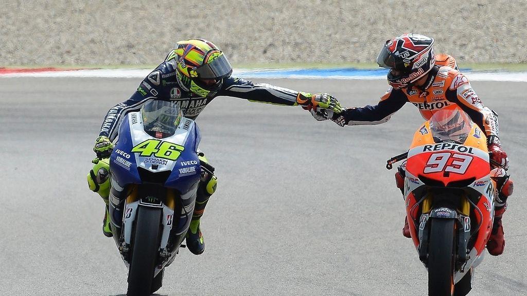 Así celebró Valentino Rossi la victoria en Assen