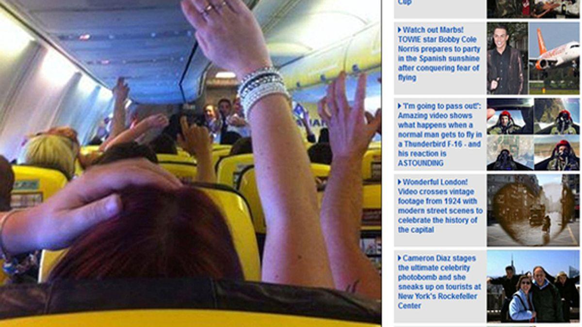 Pasajeros de un vuelo de Ryanair lanzan rollos de papel higiénico en pleno vuelo